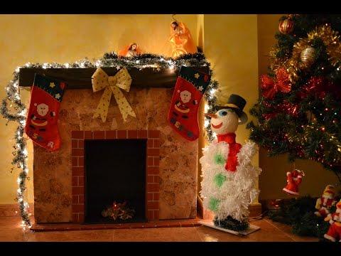 Download video chimenea decorativa navide a con cajas por - Hacer chimenea decorativa ...