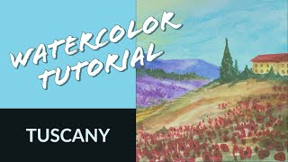 Watercolor Tutorial: Tuscany