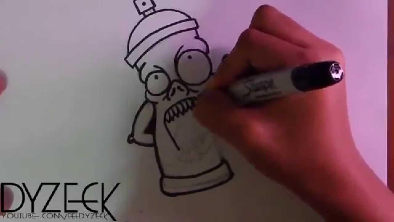 Bombolette Spray Per Murales.Disegno Bomboletta Spray Carattere Pazzesco Graffiti