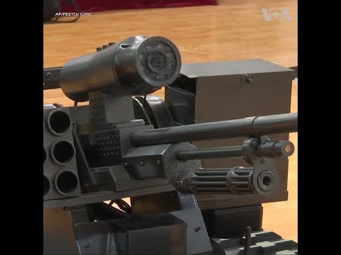 Ra mắt xe tăng laser tại Hội nghị Robot Thế giới (VOA)