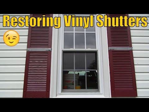 Restoring Oxidized Vinyl Shutters
