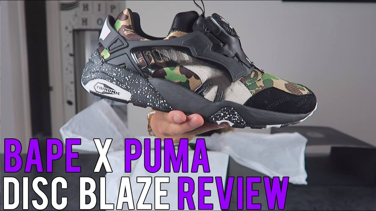 e7103e4528902 BAPE x PUMA - DISC BLAZE UNBOX / ON FEET // SNEAKER REVIEW! - YouTube