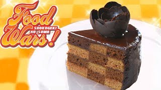 Chocolate Covered Checkerboard Cake from Food Wars! Shokugeki No Soma