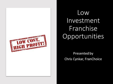 Low Investment Franchise Opportunities