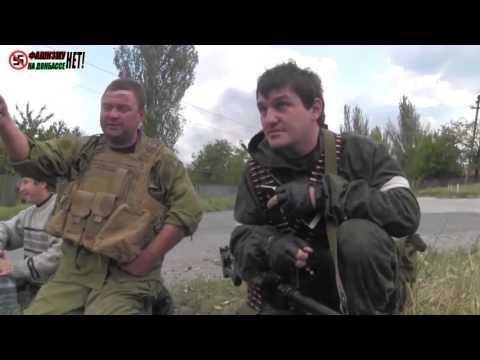 «Абхаз», командир бригады «Пятнашка» со своей бригадой в Донецке, в бою за аэропорт 29.09.2014