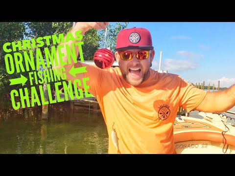 Christmas Ornament Fishing Challenge!!! Cast Netting Loads Of Bait Fish With Ben Chancey