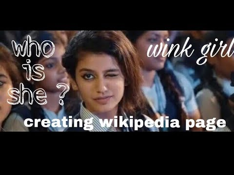 How to create Wikipedia Page, with example Priya Prakash Varrier (english)