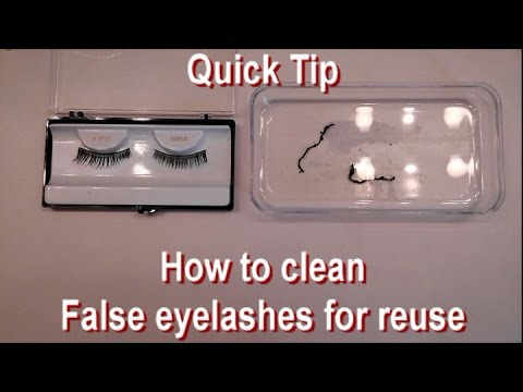How to clean False Eyelashes for reuse - YouTube