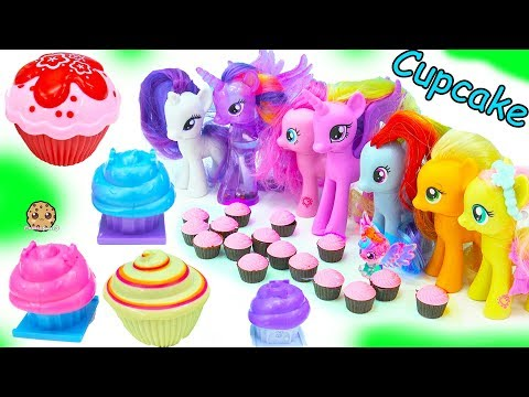 My Little Pony Cupcake Party with Surprise Princess Dolls + Animal Jam Blind Bag Toys