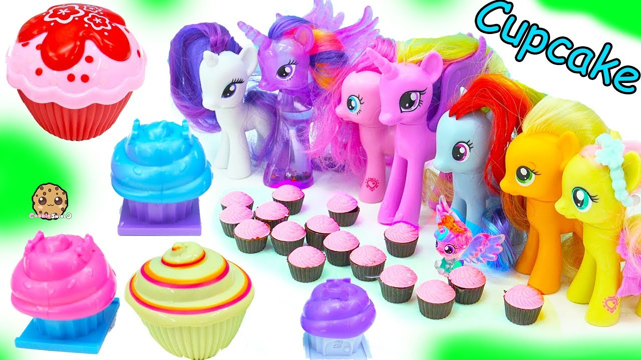 My Little Pony Cupcake Party With Surprise Princess Dolls