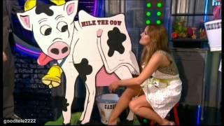 Caroline Flack & Denise Van Outen Milk A Cardboard Cow *Funny*