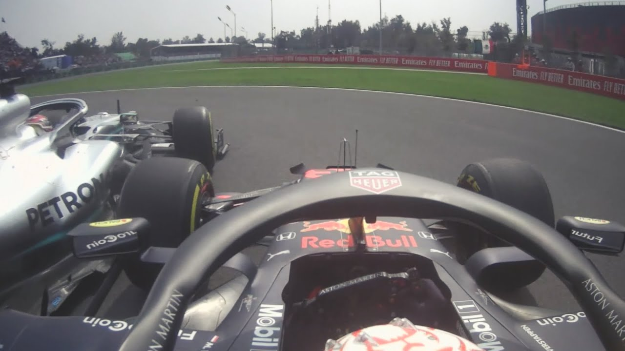 Hamilton And Verstappen Tangle At The Start | 2019 Mexican Grand Prix