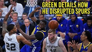 NBA Playoffs 2018: Green discusses how he disrupted Spurs offense thumbnail