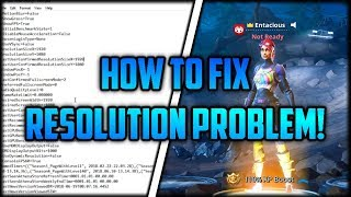 Fortnite - How to FIX Resolutions Problem / Won't go to Full Screen Issue - After Patch Update