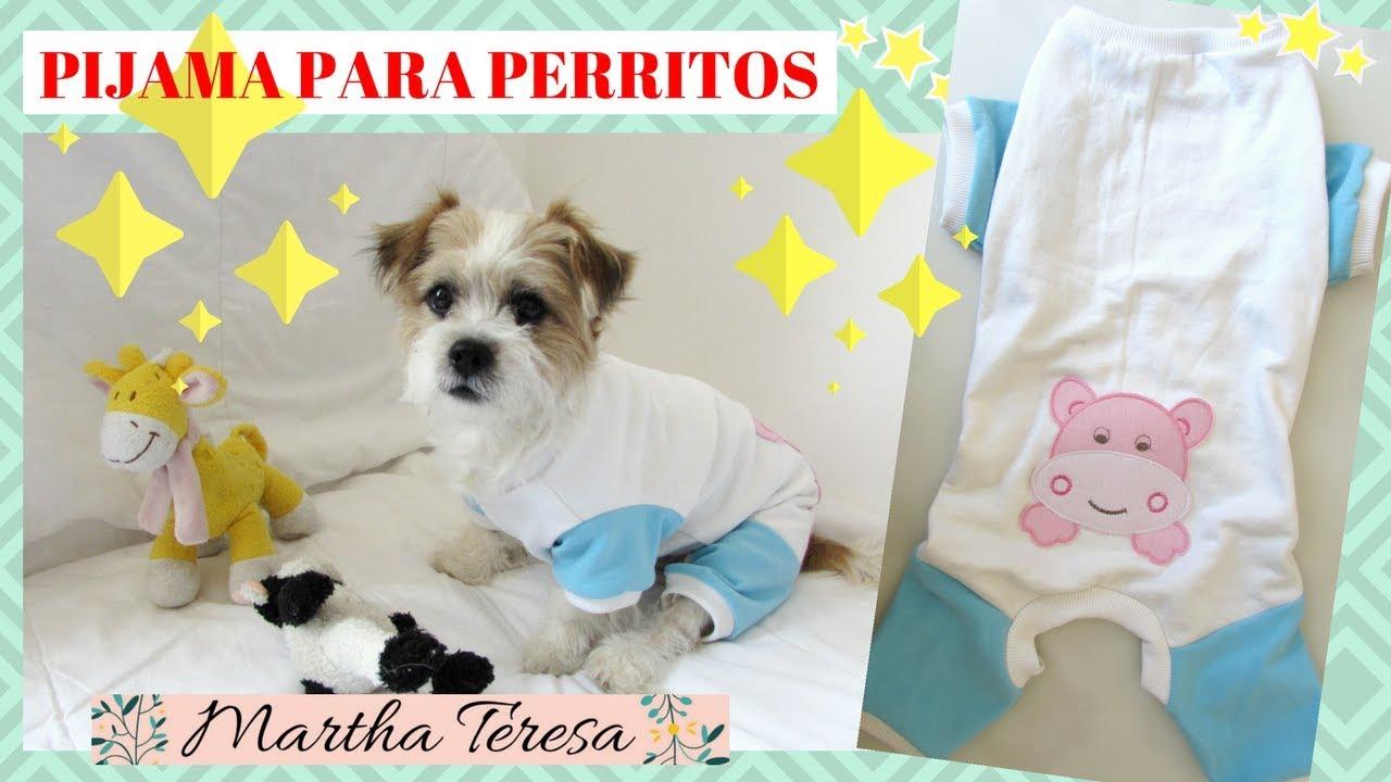 Como Hacer Pijama Para Perritos- Modelo bebe - DIY. - YouTube