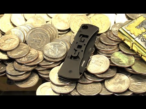 Coin Pusher Won Knives! | Arcade Coin Pusher | Matt3756