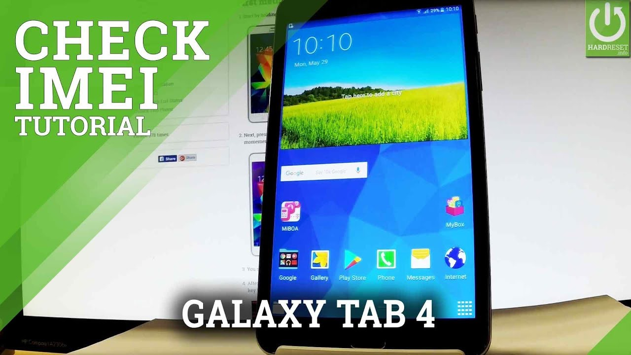 how to check imei in samsung galaxy tab 4   imei info
