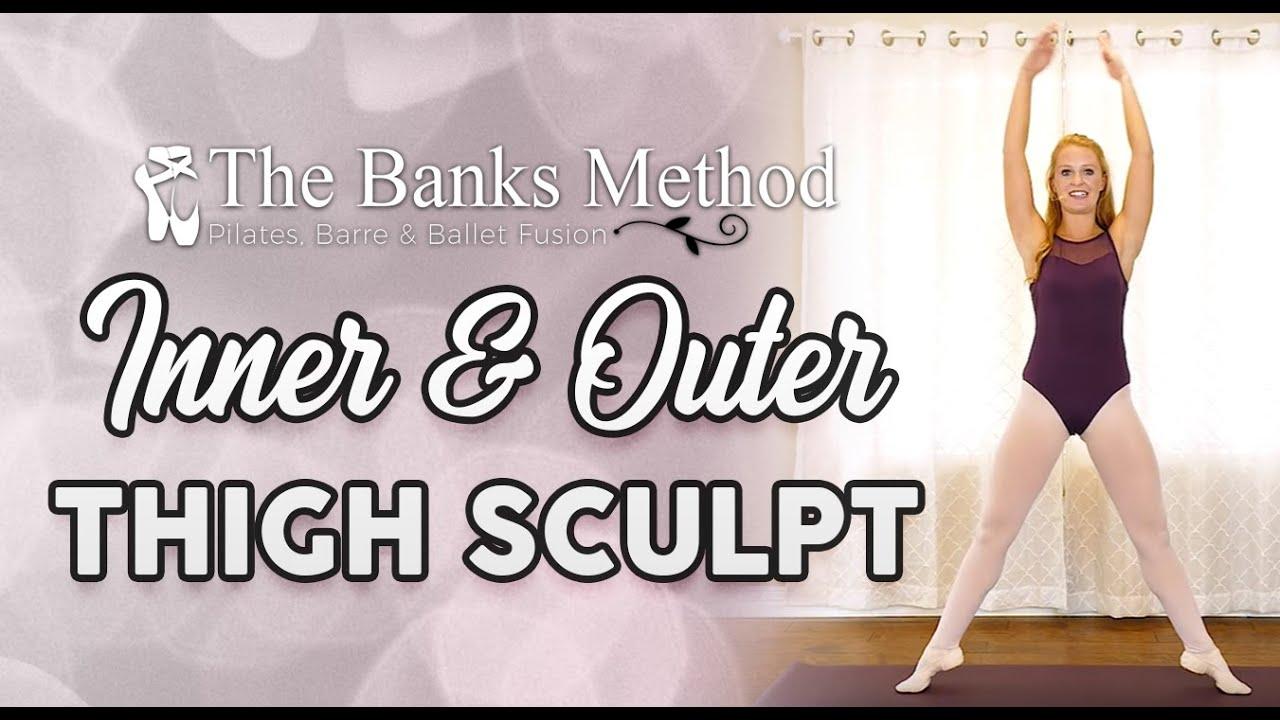 Trim Inner Thighs ♥ Ballet - Barre - Pilates Burn & Sculpt Workout, Beginners Class, At Home Fit