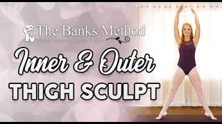 Trim Inner Thighs ♥ Ballet - Barre - Pilates Burn & Sculpt Workout, Beginners Class, At Home Fitness