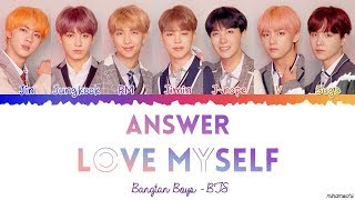 Bts  방탄소년단  – Answer : Love Myself Lyrics  Color Coded Han_rom_eng