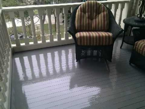 Painting a Wooden PorchPatio Floor  Exterior Painting