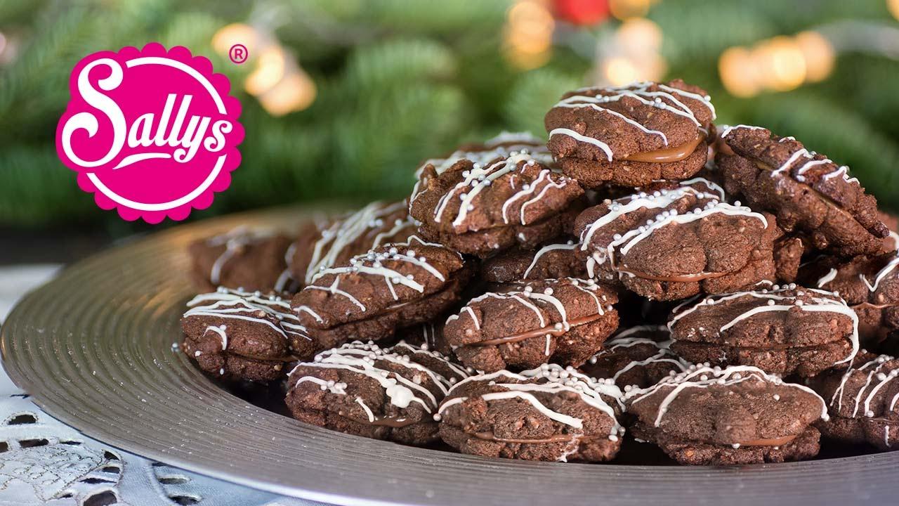 Weihnachtsplätzchen Schokoladenplätzchen.Nougatküsschen Mürbe Plätzchen Mit Nougatfüllung Sallys Welt