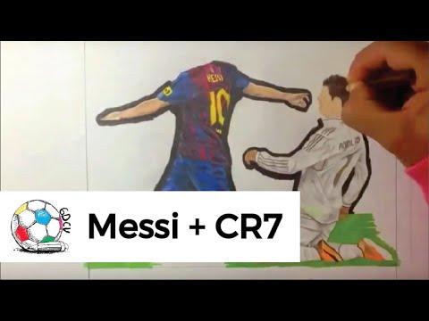 Dibujo del gol de Messi que dejó a Cristiano Ronaldo de rodillas.