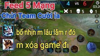 Troll Game _ Giả Vờ Feed 5 Mạng Rồi Chat Chửi Team Ngu Quá Hài Hước | Yo Game