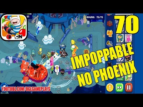 BLOONS ADVENTURE TIME TD - UNDERWATER MALL - IMPOPPABLE MODE (NO PHOENIX) - Gameplay 70