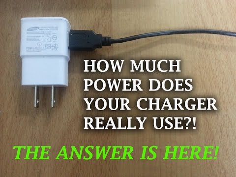 Video 53 - Power consumption of cellullar charger