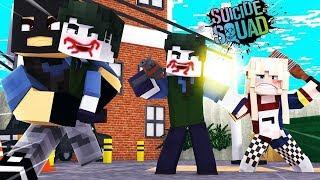 Minecraft: Who´s Your Hero -O BEBE MALUCO DA ARLEQUINA E DO CORINGA CORRE RISCO DE VIDA NO MINECRAFT