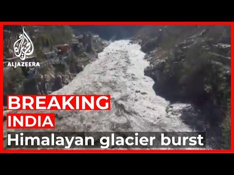 Himalayan glacier bursts in India; dozens feared dead
