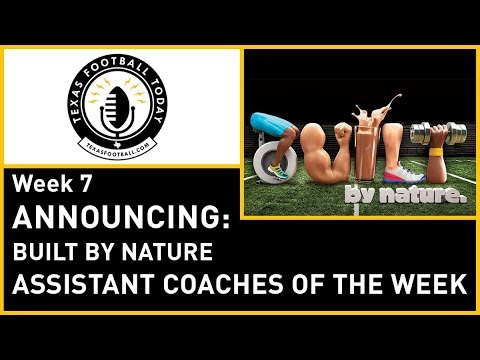 Announcing the Built By Nature Assistant Coach of the Week nominees for Week 7