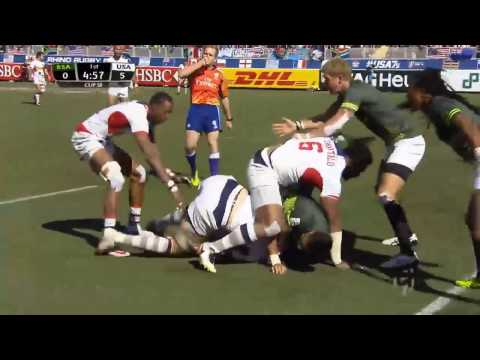 (HD) Las Vegas 7s Cup Semi Final | South Africa v USA | Full Match Highlights | Rugby Sevens