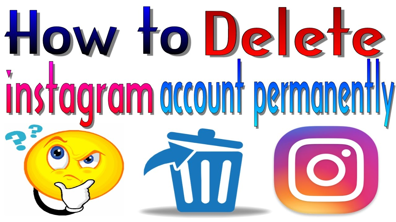 How To Delete Instagram Account Permanently 2016 Youtube