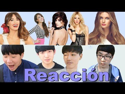 KOREAN GUYS REACT TO LATIN FEMALE CELEBRITIES