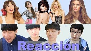 Coreanos reaccionan a las Famosas Latinas (ESP & ENG SUB)