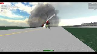 roblox (old vid) roair atr-42 on fire at hearthland