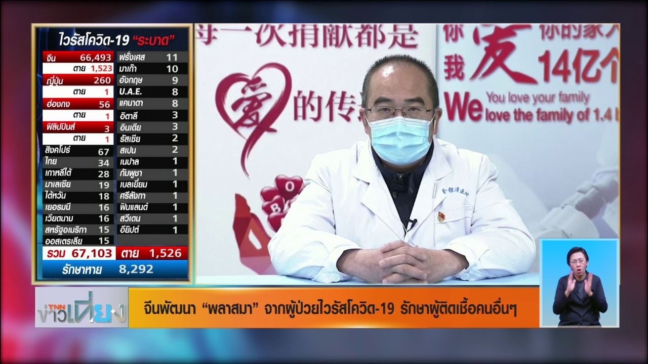 พบบุคลากรทางการแพทย์ในไทยติดไวรัสโควิด-19 แพทย์จีนติดเชื้อ 1,700 ราย l 15 ก.พ.63 l TNN ข่าวเที่ยง