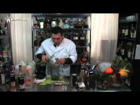 The Liquid Chef, Junior Merino of The Liquid Lab in The Bronx, NY creates Spring Cocktails