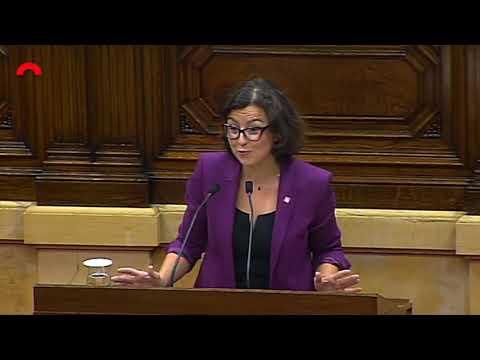 intervenció d'Eva Granados al Ple del Parlament (09/10/2018)