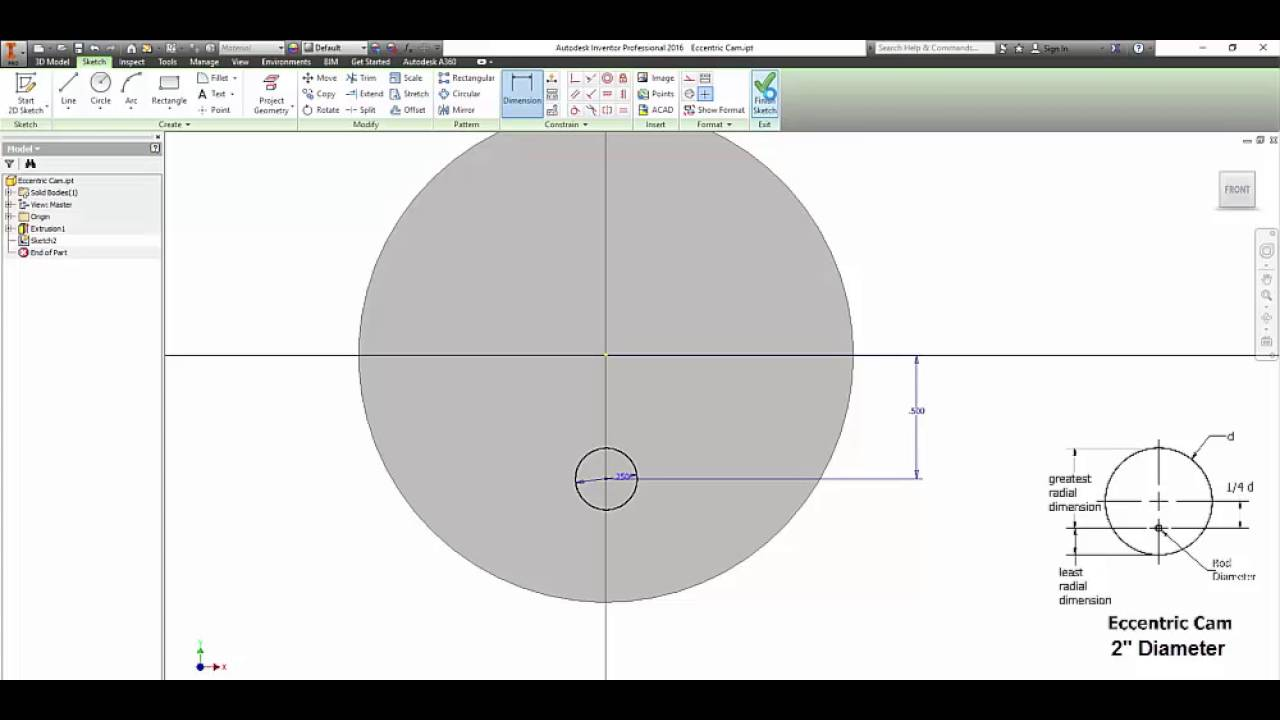 autodesk inventor eccentric and hexagon cams tutorial youtube. Black Bedroom Furniture Sets. Home Design Ideas