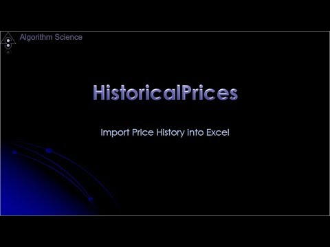 Download historical stock price data into Excel - SignalSolver