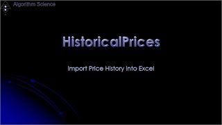 Found Historical Price Data   Asdela