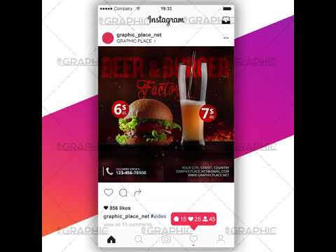 Burger Factory - Social Media Video Template for Instagram