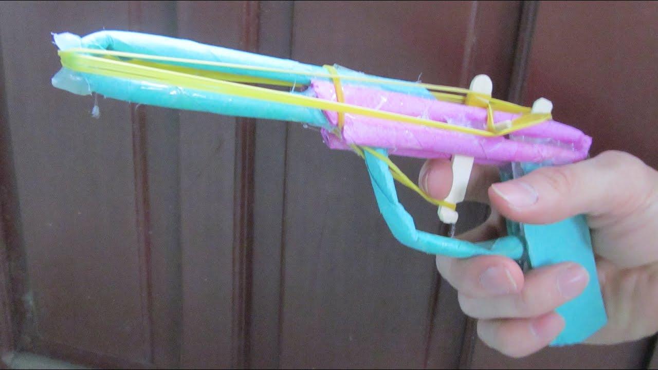 Comment faire un pistolet l 39 aide de papier 7 lastique youtube - Comment fabriquer un pistolet ...
