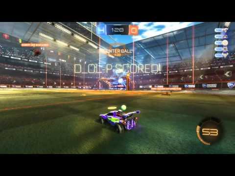 Rocket League - Wall pinch goal.