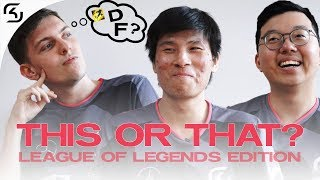 THIS OR THAT? CHALLENGE | SK LEAGUE OF LEGENDS