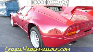 De Tomaso Pantera GTS Video Luxury Coupe Sports Car Exotics