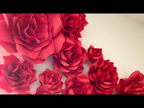 Tutorial How To Make Paper Flower Fast & Easy DIY Medium Large Rose